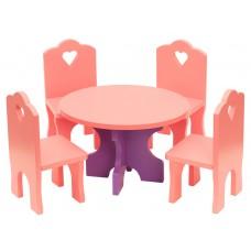 """Мебель кукольная """"Столик со стульчиками"""""""